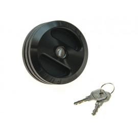 Bouchon de réservoir version antivol aluminium noire - Wrangler JK 07 - 15
