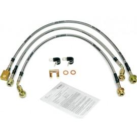 Kit de flexibles de frein acier inox avec homologation TUV - Wrangler TJ 96 - 06