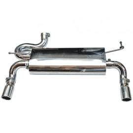Silencieux deux enj. d échappement rond 2.8-L. Diesel / 3.6-L. / 3.8-L. acier inox - Wrangler JK 07-