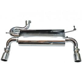 Silencieux deux enj. d échappement ovale 2.8-L. Diesel / 3.6-L. / 3.8-L. acier inox - Wrangler JK 07-