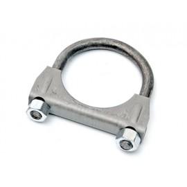 Collier de tuyau d´échappement M8 Ø 2,25''  Ø 63-65 mm acier