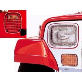 Grilles de protection de feu acier inox - Wrangler YJ 87 - 95