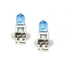 """Lampes halogène-type """"Super white H3 Quanité 2 unités H3-12Volts 100W (sans homologation UE pour la route)"""