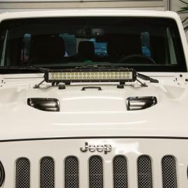 """Support pour 20"""" Led-Lightbar sur la Capot-moteur - Wrangler JK 07 - 16"""