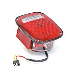 Feu arrière gauche US rouge avec feu latéral - Wrangler TJ 96 - 06
