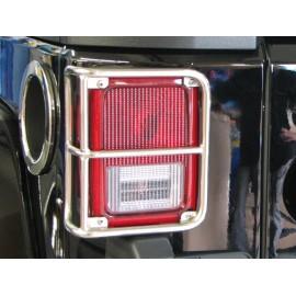 Protections de feu arrière acier inox - Wrangler JK 07-