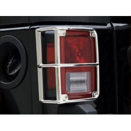 Protections de feu arrière acier inox (en fonte) - Wrangler JK 07-