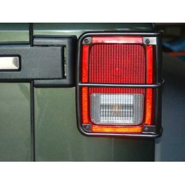 Protections de feu arrière acier inox/noir - Wrangler JK 07-14