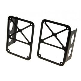 Protections de feu arrière acier inox noir - Wrangler JK 07 -