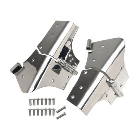 Charnières de cadre de pare-brise acier inox - Wrangler TJ 96 - 06