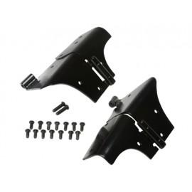Charnières de cadre de pare-brise finition noire - Wrangler TJ 96 - 06