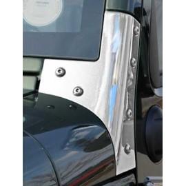 Support de cadre de vitre acier inox - Wrangler JK 07-