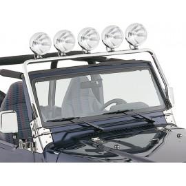 Arceau de projecteurs acier inox - Wrangler TJ 96 - 02
