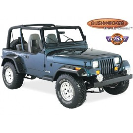 Bushwacker Kit d'extensions d'ailes Cut out Flare 4 éléments - Wrangler YJ 87 - 95