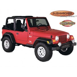 Bushwacker Kit d'extensions d'ailes Pocket Style 4 éléments - Wrangler TJ 96 - 06