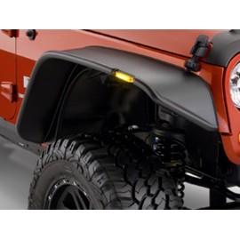 Bushwacker Kit d'extensions d'ailes Flat Fender Style 4 Portes 4 éléments - Wrangler JK Unlimited 07-