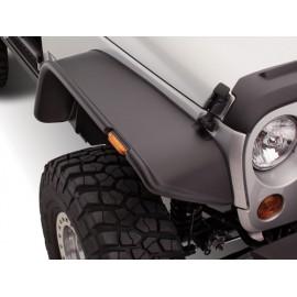 Bushwacker Kit d'extensions d'ailes Flat Fender Style 2 Portes 4 éléments - Wrangler JK 07 -