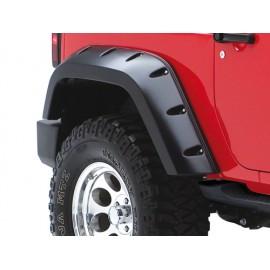 """Bushwacker Kit d'extensions d'ailes arrière Pocket Style 2 éléments 2 portes 6,75""""  17cm - Wrangler JK 07 -"""