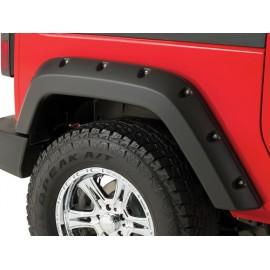 """Bushwacker Kit d'extensions d'ailes arrière Pocket Style 2 éléments 2 portes 4,75""""  12cm - Wrangler JK 07 - 14"""