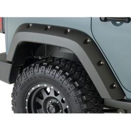 """Bushwacker Kit d'extensions d'ailes arrière Pocket Style 2 éléments 4 portes 4,75""""  12cm - Wrangler JK 07 - 14"""