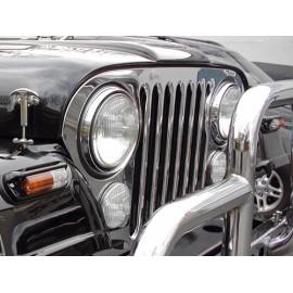 Enjoliveur de calandre acier inox - Jeep CJ 55 - 86