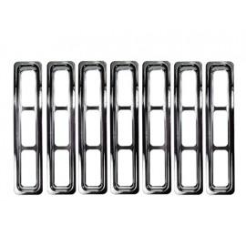 Inserts d'enjoliveur de calandre finition chromée - Wrangler TJ 96 - 06