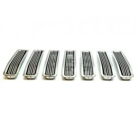 Inserts d'enjoliveur de calandre aluminium - Wrangler TJ 96 - 06