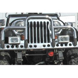 Barre de protection ''New Yorker'' acier inox - Jeep CJ 76 - 86