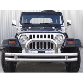 Barre de protection ''Californio'' acier inox Ø 75mm - Wrangler YJ 87 - 95
