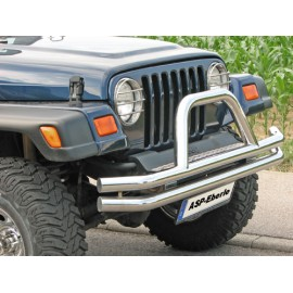 Barre de protection ''Californio'' acier inox Ø 65mm - Wrangler TJ 97 - 06