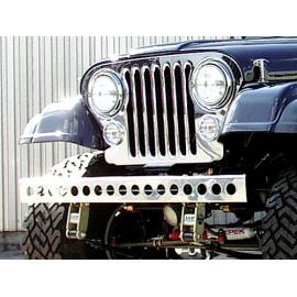 Pare-chocs acier inox avec perforation - Jeep CJ 55 - 86