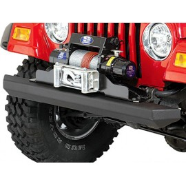 Pare-chocs Rock Crusher Bumper acier, noir avant - Jeep CJ 76 - 86