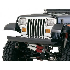 Pare-chocs Rock Crusher Bumper acier, noir avant - Wrangler YJ 87 - 95