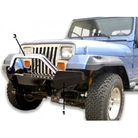 Winch Bumper HighRock 4x4 front - Wrangler YJ 87 - 95