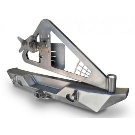 Pare chocs arrière Rock Brawler 2 avec support de roue version étroite - Wrangler JK 07 - 15
