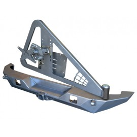 Pare chocs arrière Brawler avec support de roue version large - Wrangler JK 07 - 15