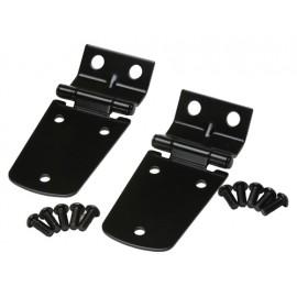 Kit de charnières de capot finition noire - Wrangler TJ 96 - 06