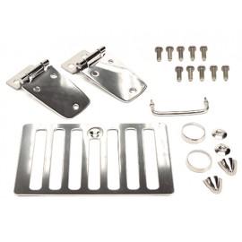 Kit de capot acier inox - Wrangler TJ 98 - 06