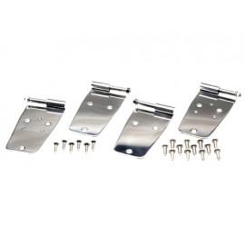 Kit de charnières de porte 4 éléments, portes d acier avec des trous miroir acier inox