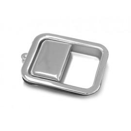 Poignée encastrée chromée gauche (porte pleine) - Wrangler TJ 96 - 06
