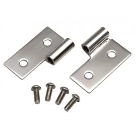 Kit de ferrures de porte acier inox - Wrangler TJ 96 - 06