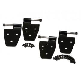 Kit de charnières de porte finition noire, 4 éléments - Wrangler TJ 96 - 06