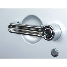 Enjoliveur de poignée de porte plastique/chromé 3 portes - Wrangler JK 07 -