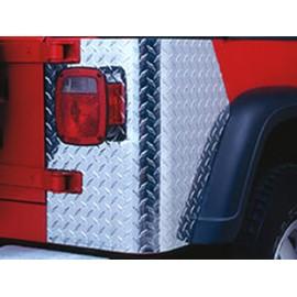 Panneau de coin arrière Aluminium - Jeep CJ7 76 - 86