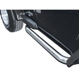 Kit de tubes de protection latéraux Ø 75 mm acier inox - Wrangler TJ 96 - 06
