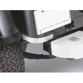 Protections de bas de caisse acier inox, coins arrière - Wrangler YJ 87 - 95