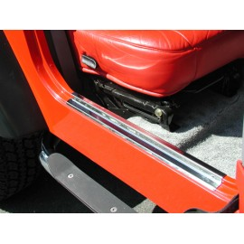 Protections de seuil de porte acier inox - Wrangler TJ 96 - 06